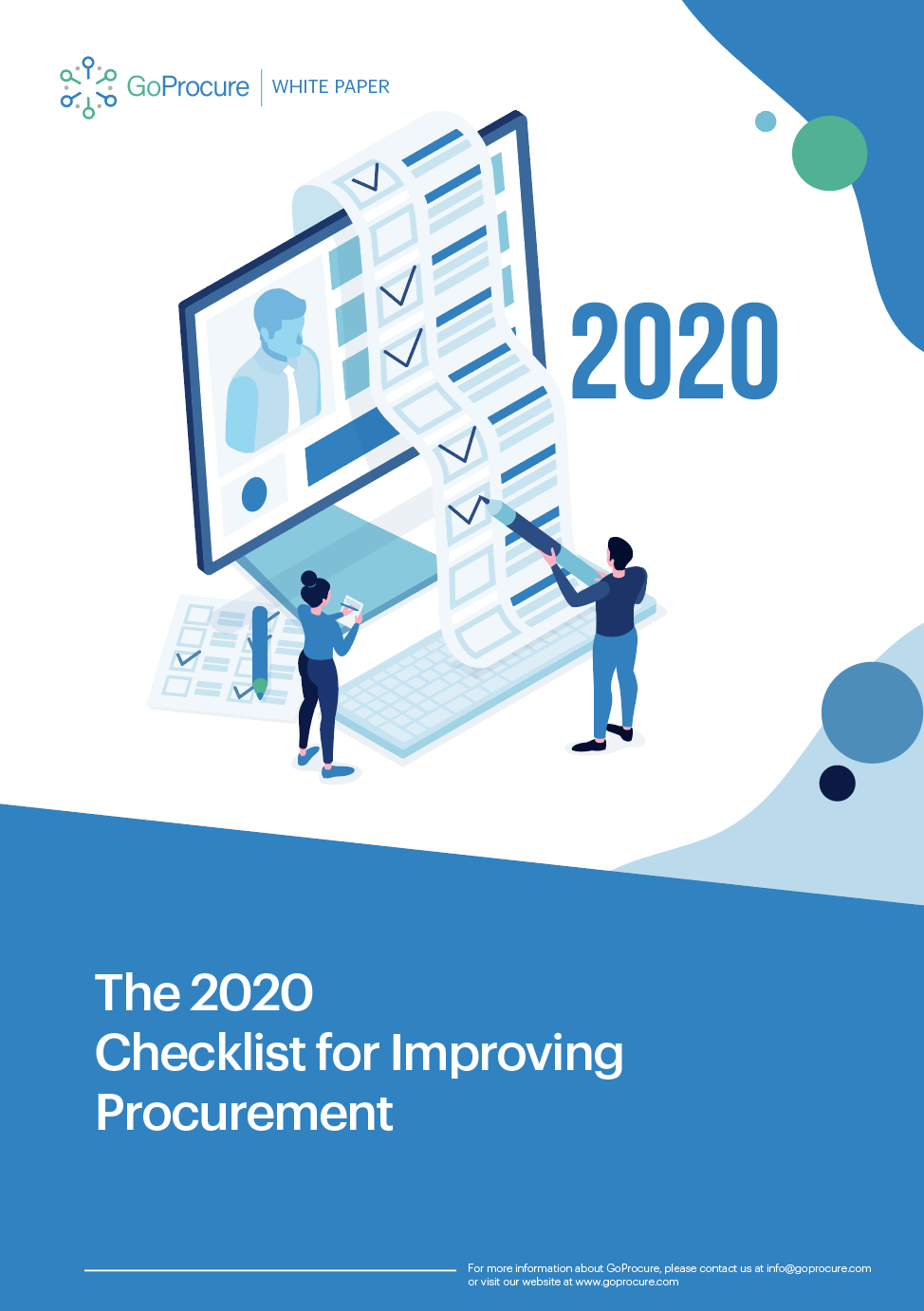 2020 Checklist for Improving Procurement Front Page