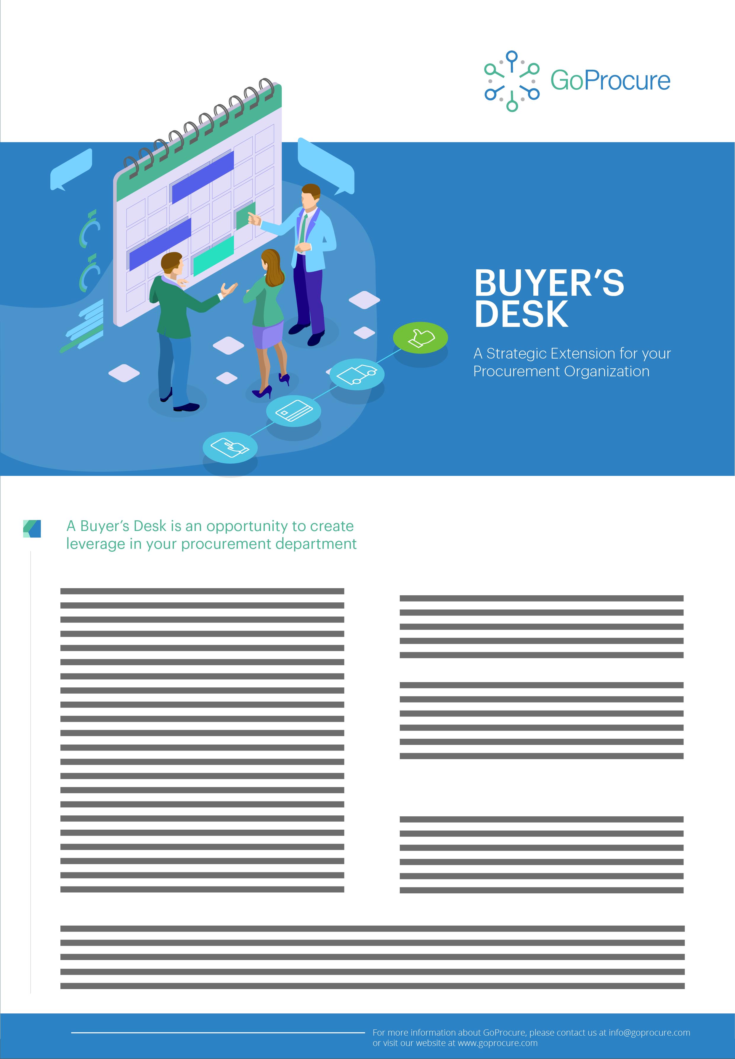 Buyer's Desk Service Sheet