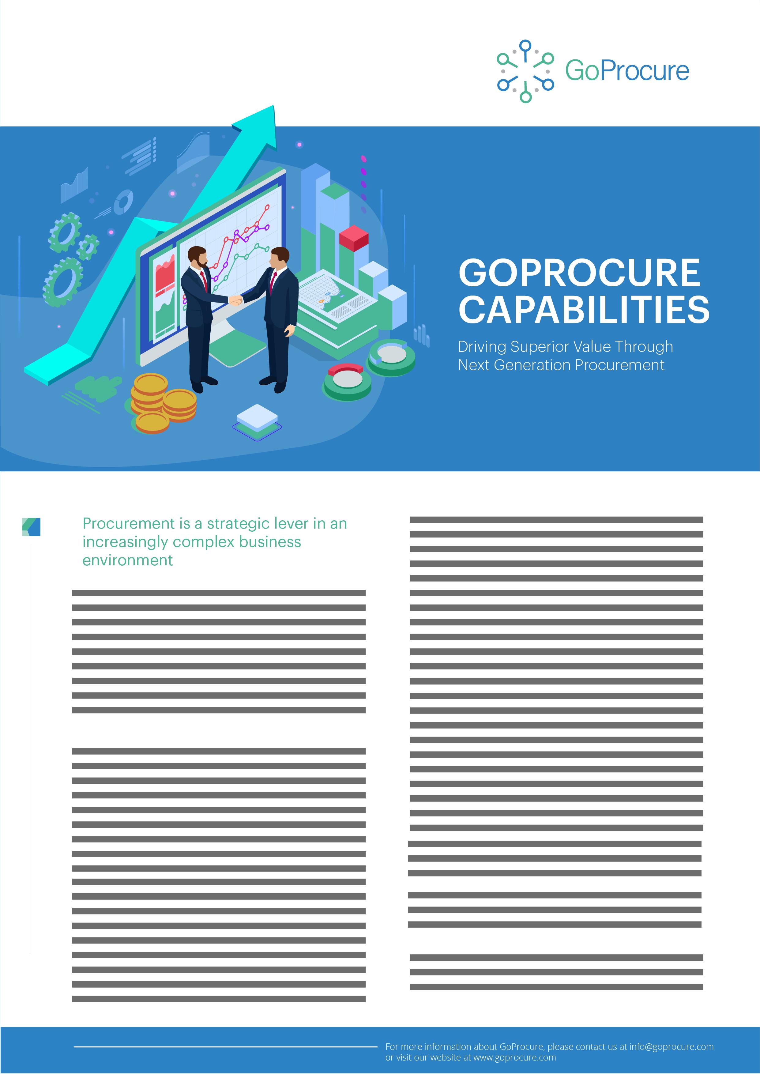 GoProcure Capabilities Service Sheet