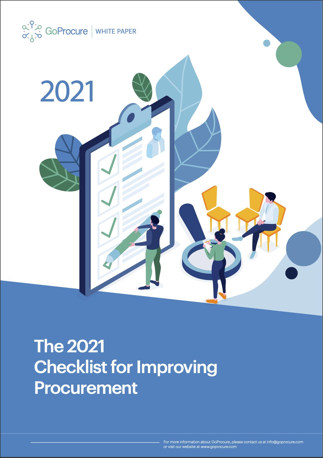 Goprocure 2021 checklist